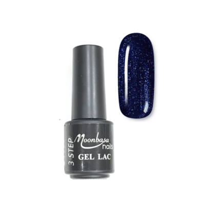 Moonbasanails 3 step lakkzselé 4ml #123 Enyhén csillámos kék