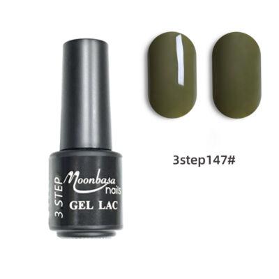 Moonbasanails 3 step lakkzselé 4ml #147 Terep zöld