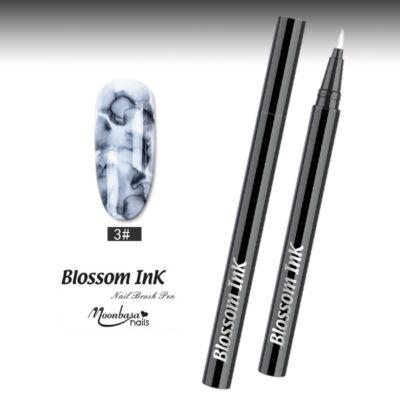 Blossom Ink - Nail art Brush - Festék ecset  #03 Fekete