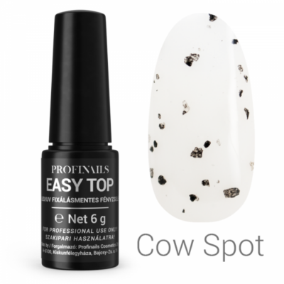 Profinails Easy Top Fixálásmentes fényzselé 6g Cow spot