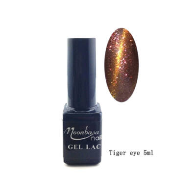 Moonbasanails Tiger eye géllakk #842