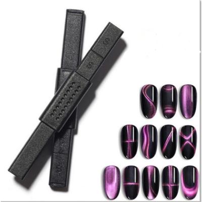 Tiger eye szupererős mintázó mágnes - fekete műanyag borítással