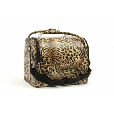Műkörmös táska leopard
