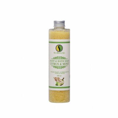 Frissítő Fürdő - és lábáztató só Citrus & Menta 330g Sara Beauty Spa