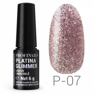 Profinails Platina Glimmer LED/UV lakkzselé 6g P-07