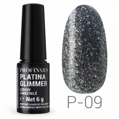 Profinails Platina Glimmer LED/UV lakkzselé 6g P-09
