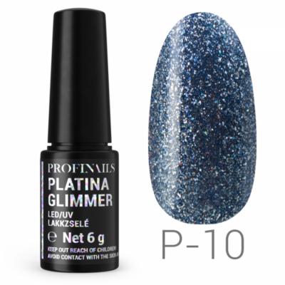Profinails Platina Glimmer LED/UV lakkzselé 6g P-10
