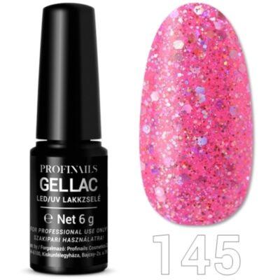 Profinails UV/LED géllall No 145 Flitteres rózsaszín