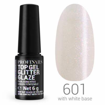 Profinails Top Gél Glitter Glaze fixálásmentes UV/LED fényzselé 6g No. 601