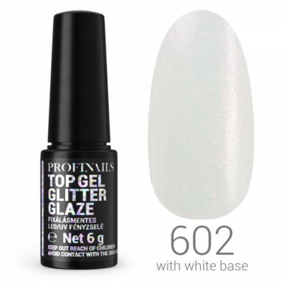 Profinails Top Gél Glitter Glaze fixálásmentes LED/UV fényzselé 6g No. 602