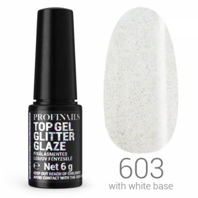Profinails Top Gél Glitter Glaze fixálásmentes LED/UV fényzselé 6g No. 603
