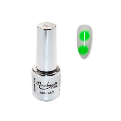 Moonbasanails Snow Ice Géllakk #730 Neon zöld
