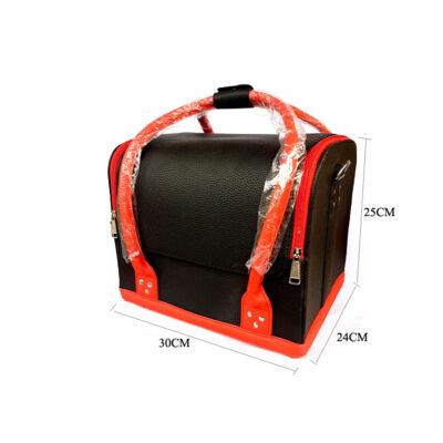 Műkörmös táska Fekete - Piros