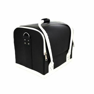 Műkörmös táska fekete-fehér